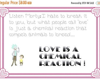 Rick and Morty quote Cross Stitch Pattern Pdf Morty pattern needlepoint - 165 x 113 stitches - INSTANT Download - B1082