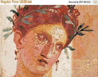 Pompei's art Cross Stitch Pattern Pdf pompei pattern pompei cross stitch - 220 x 165 stitches - INSTANT Download - B1346
