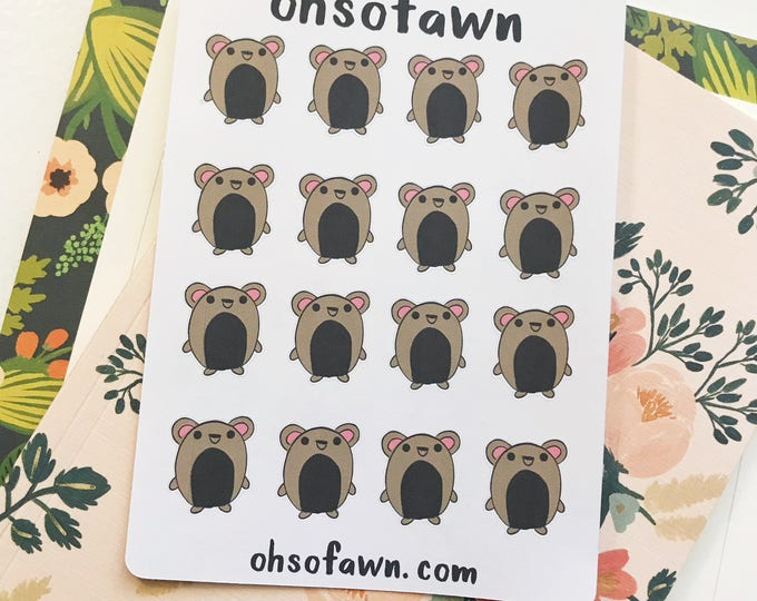 Hand Drawn Chubby Bear Planner Stickers