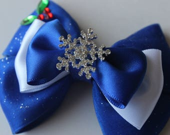Snow Queen Elsa Frozen Adventure Inspired Bow