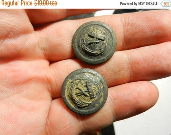Summer Sale Vintage WW2 Navy Military Uniform Buttons
