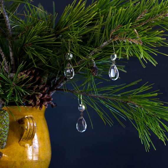 French Noël Ornaments - Glass Drops
