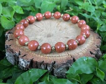 Dorothy Bracelet- Gold Sandstone(8mm) Bracelet- gemstone bracelet- boho beaded bracelet- oliver grey jewelry