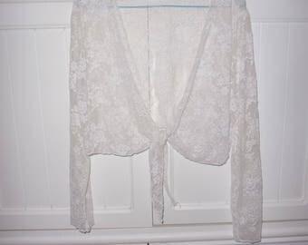 Vintage 1970's lace top size M