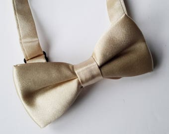 Boys Gold Bow Tie, Bow ties for Boys, Boys Double Bow tie, 6-12 Years