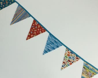 bunting sea sand-pennants ocean shells-bunting garland-poolside decor-nursery bunting-Childs room bunting-party bunting-summer pennant flags