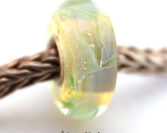 SRA artist handmade euro big hole lampwork glass bead with sterling silver core - Made To Order - S934