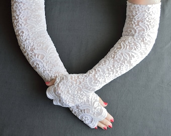Handmade lacy arm warmers