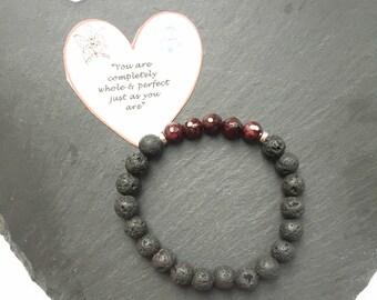 Essential Oil Diffuser Bracelet, Diffuser Bracelet, Gemstone Bracelet, Chakra Bracelet, Reiki Bracelet, Aromatherapy Bracelet, Lava Stone