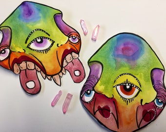 Eventually they will find you ~Hand painted one of a kind sticker set ~