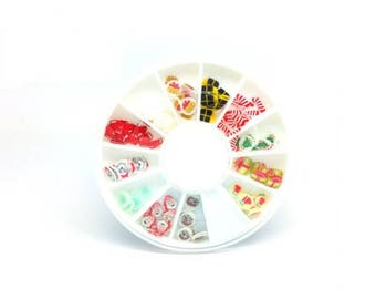 120 slices washers winter Christmas polymer clay