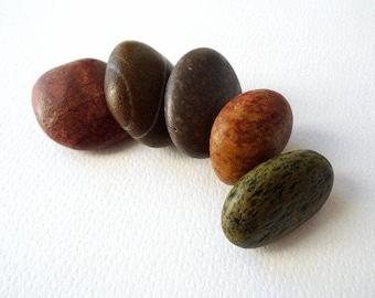 Colorful Beach Stones, Beach Pebbles, Sea Stones, Stone Beads