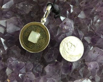 Chinese good luck coin pendant