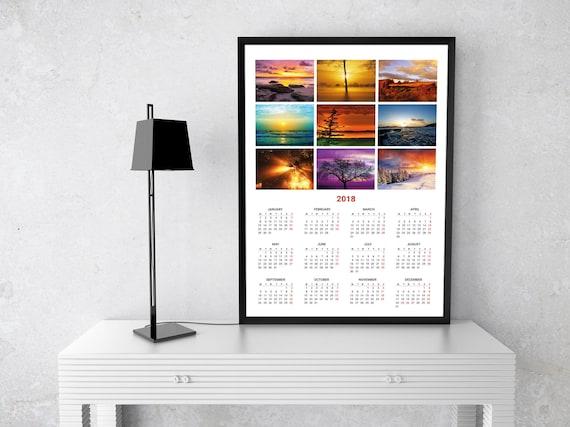 Calendar Poster Size : Poster wall calendar template kjp w size a