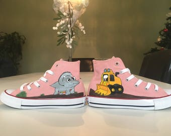 Customised Hand Painted Childrens Hi-top Converse