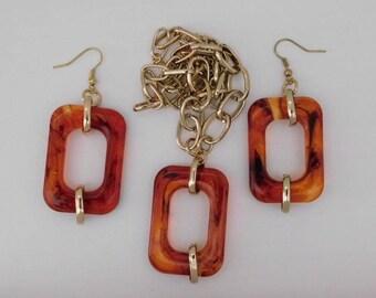 Tortoise Earrings Necklace