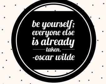 Quote magnet- Oscar Wilde