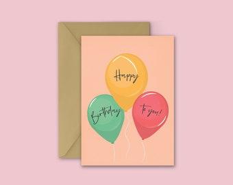 Happy Balloon Greeting Card