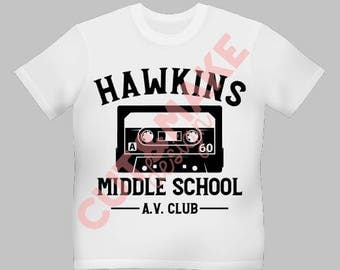 Hawkins middleschool AV club svg