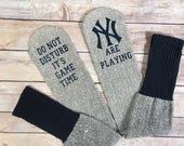Do not disturb It's game time YANKEES socks