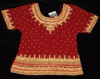 New Mumtaj Fashion Hand Beaded Red Lehenga Choli Set Zardozi Work