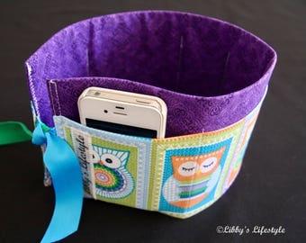 Owls handbag organiser. Handmade.