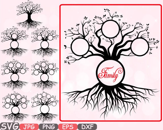 Family Tree Svg Word Art Cutting Files Family Tree Deep Roots