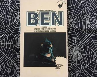 BEN (Paperback Novelization by Gilbert A. Ralston)