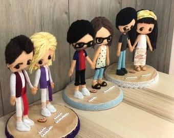 Custom Felt Dolls