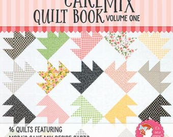 Cake Mix Quilt Book Volume One by Its Sew Emma Publishing for Moda- 16 Quilts Featuring Moda Cake Mix Recipe Cards