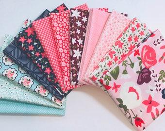 SALE!! Fat Quarter Bundle Posy Garden by Carina Gardner for Riley Blake Designs - 12 Fabrics