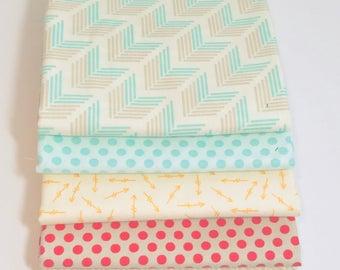 1/2 Yard Bundle Bright Sun by Sherri and Chelsi A Quilting Life for Moda 5 Fabrics