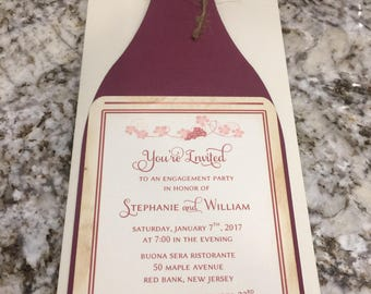 Wine Bottle Invitation | Wine Themed Invitation | Wine Invite