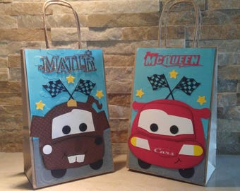 MC Queen Cars goody bags set of 12 / Disney Cars Goody Bags