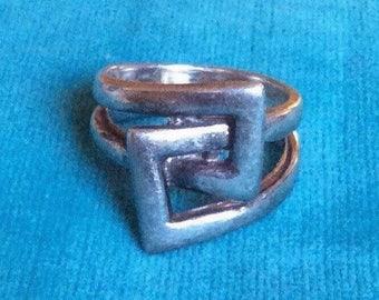 Vintage Modernist Norwegian Design Sterling Silver Ring