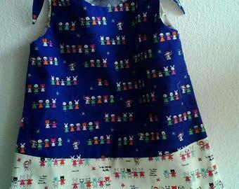 Pure kawai style cotton dress two colors