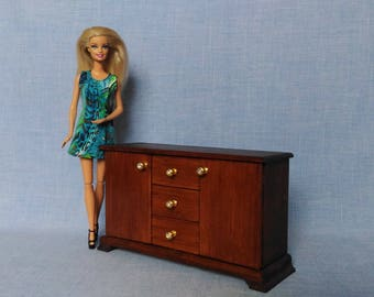 Chest of drawers for 12 inch doll /1/6 scale Miniature Dollhouse Dresser
