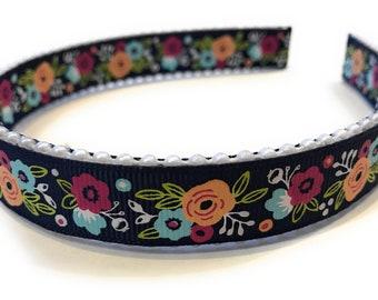 Vintage Style Floral Headband