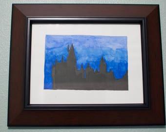 Watercolor Hogwarts