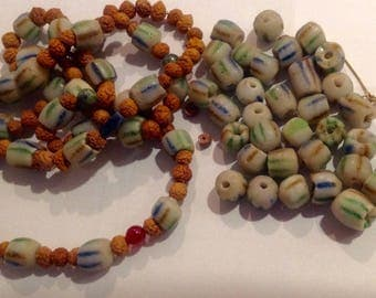 African Trade Beads Lot 1.5 lbs. Assorted