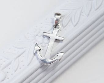 Sterling Silver Anchor Charm, silver anchor charm, silver anchor pendant, nautical charm, nautical pendant, wholesale jewelry supplies