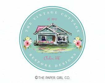 cottage logo house logo cabin logo home decor logo interior design logo realty logo real estate logo premade logo design pre made logo