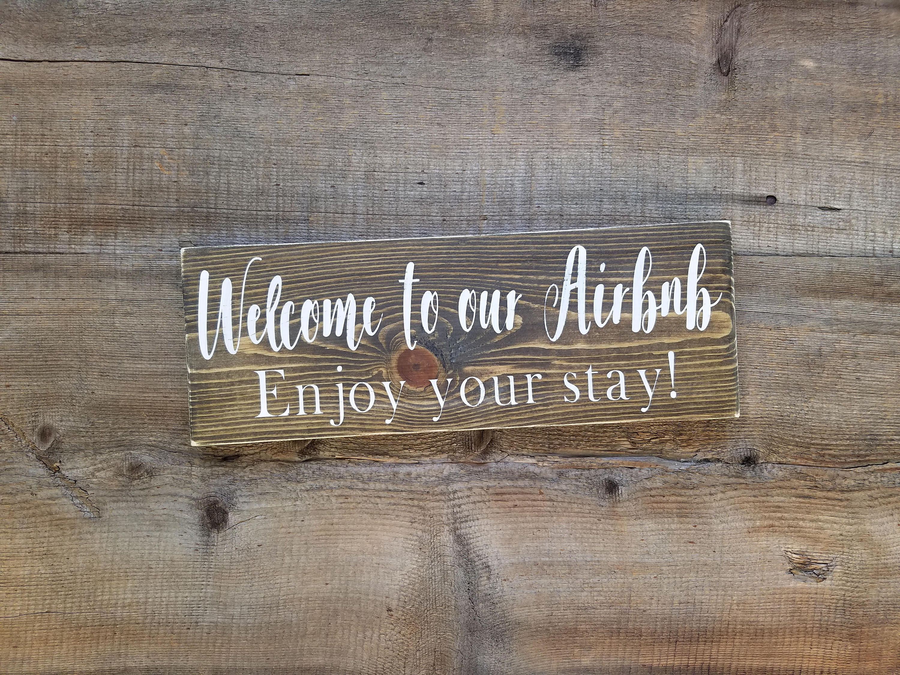 Welcome Sign Vacation Home Signs Airbnb