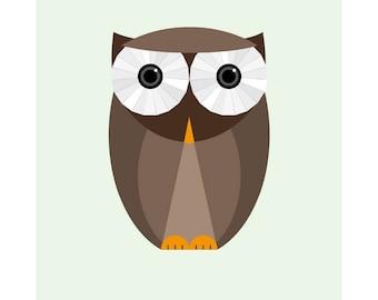 owl poster, owl print, owl art, owl wall art, owl decor, owl illustration, animal poster, owl art print, owl nursery, owl drawing, cute owl