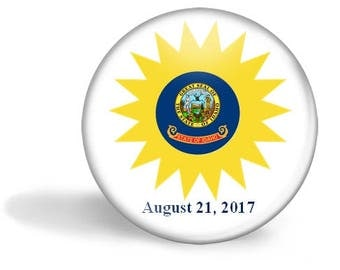 Idaho Eclipse Magnet, Eclipse Party Pin, Idaho Eclipse Pin, Total Solar Eclipse, Eclipse Party Favor