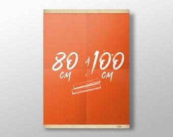 Grip Poster, Magnetic Poster Hanger, Wood Poster Hanger, Wall Hanging, Picture Frame, Print Hanger, Poster Frame, Wood Frame, Made in France
