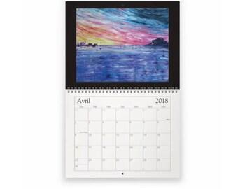 2018 art calendar, Calendar 2018
