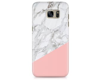 Case for Samsung Galaxy S7 S7 Edge Galaxy S8 Galaxy S8 Plus iPhone 7 iPhone 7 Plus LG G4 LG G5 Htc 10 Htc M9 Pink and Marble Texture