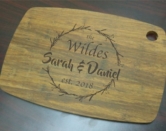 Personalized Bamboo Cutting Board, Laser Engraved Cutting Board, Monogrammed Cutting Board, Personalized Housewarming Gift, Wedding Gift