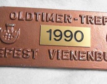 Car badge-Oldtimer meet 1990 Vienenburg-Vintage Car badge